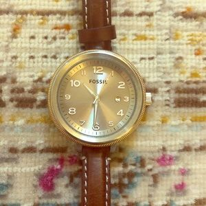 Fossil Thin Leather Watch